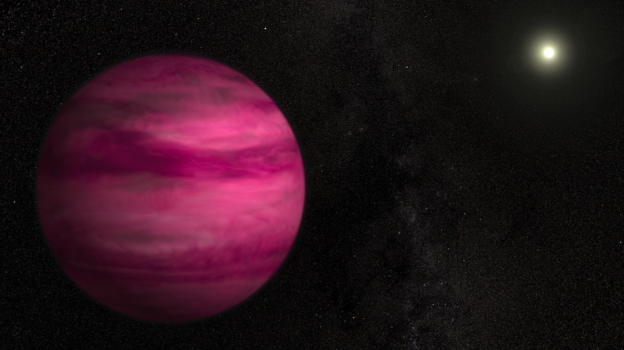 Pink Alien Planet Is Smallest Photographed Around Sun-Like Star