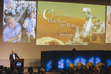 JPL chief scientist Dan McCleese provided the opening remarks for Curiosity: One Year on Mars.