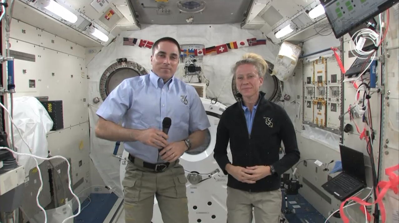 Astronauts Cassidy and Nyberg Speak During Curiosity One-Year Anniversary Celebration