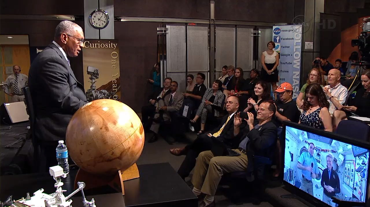 NASA Administrator Bolden at Curiosity One-Year Anniversary Celebration