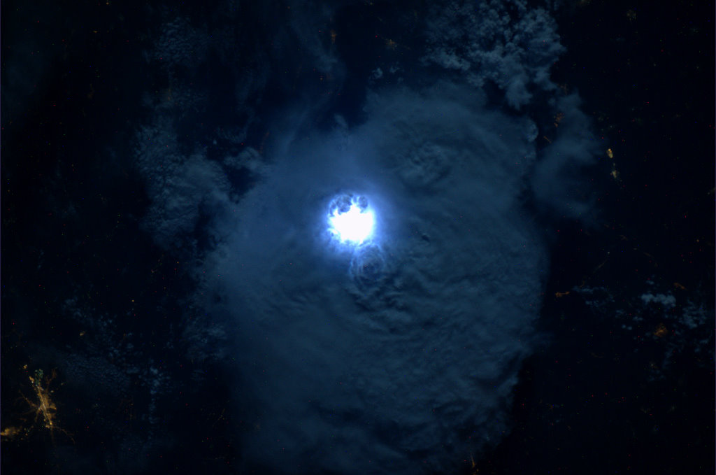 Astronaut on ISS Captures Lightning Flash