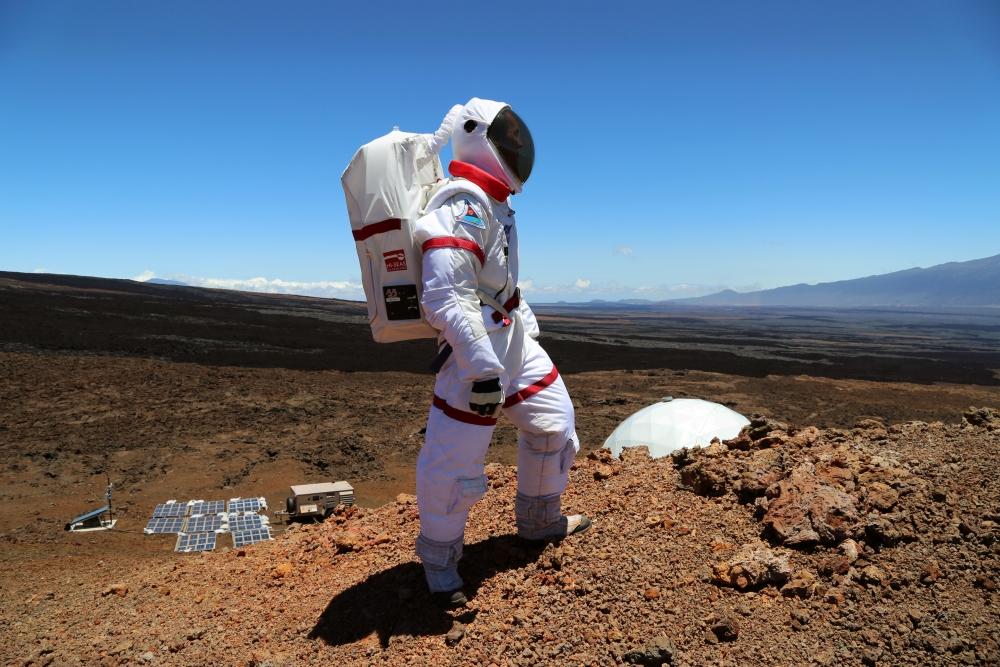 Dr. Oleg Abramov in a Spacesuit
