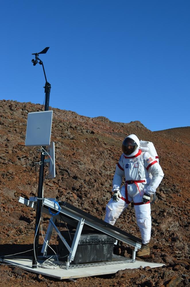 Simon Engler in a Spacesuit