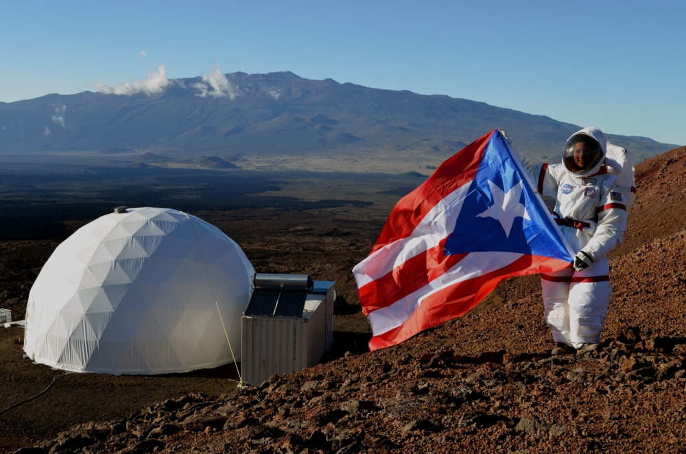 The Puerto Rican Flag at EVA Testing