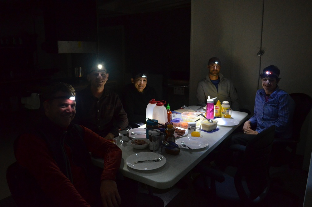 HI-SEAS Dinner by Headlamp