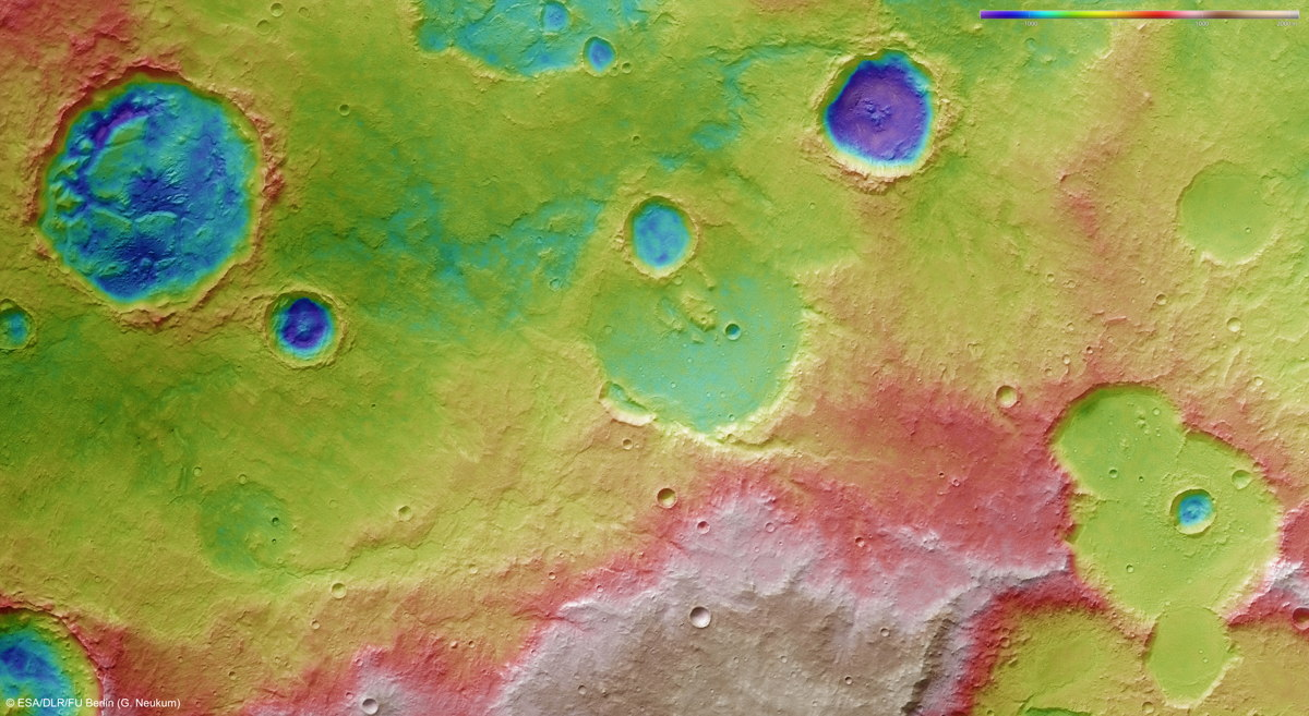 Tagus Valles Topography on Mars