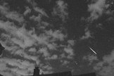 "John Chumack sent in a photo of a Perseid meteor over Dayton, OH. He writes: ""My meteor video camera network picked up about 2 dozen Perseid meteors coming out of the northeastern sky."" Image acquired August 4, 2013."