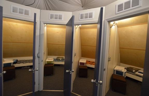 The bedrooms of the HI-SEAS mock mission habitat.