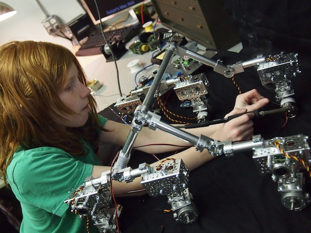 Genevieve Beatty Solders Wires on the Mars Rover