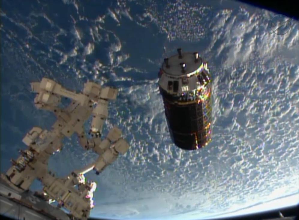 Japan HTV-4 Cargo Ship Near ISS