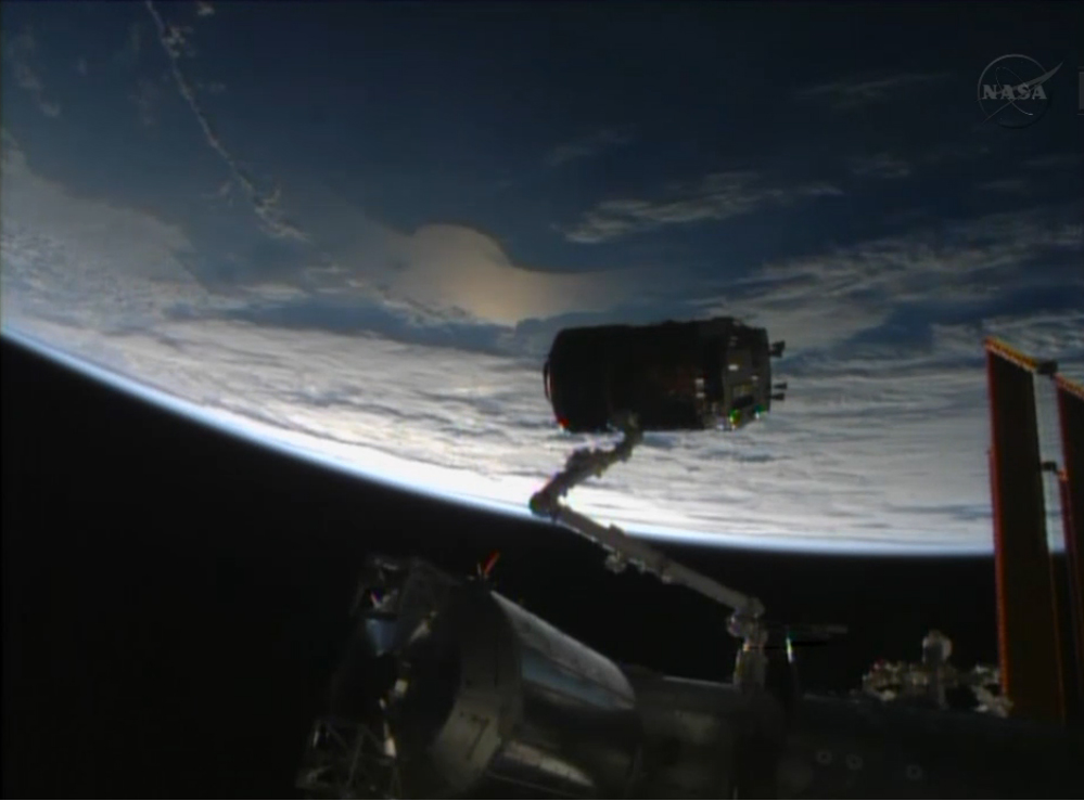 HTV-4 Arrival at Space Station: Grapple