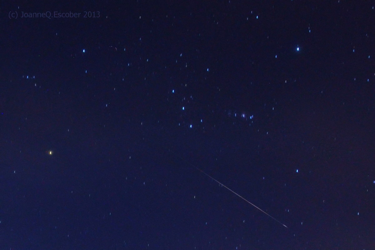 2013 Perseid Meteor Over the Phillippines