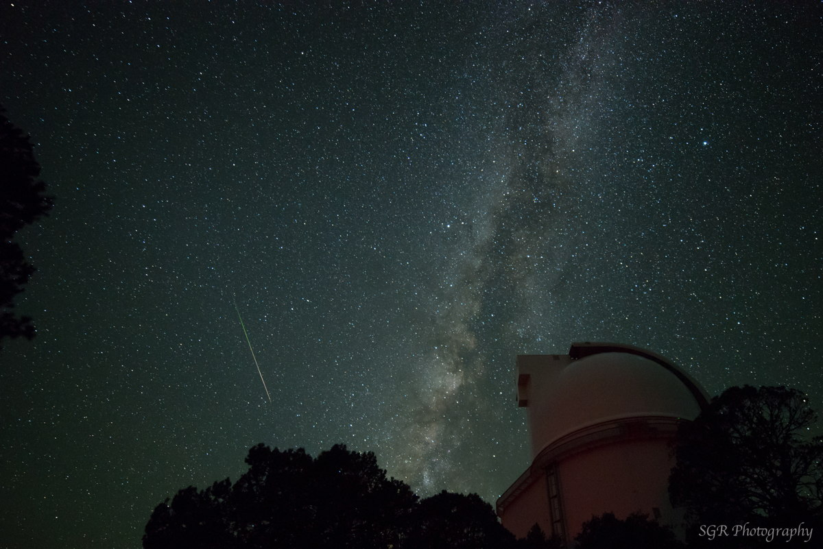 2013 Perseid Fireball Over McDonald Observatory, TX