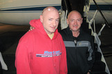 Astronaut brothers Scott Kelly (left) and Mark Kelly. Scott Kelly will spend a year on the International Space Station starting in 2015.