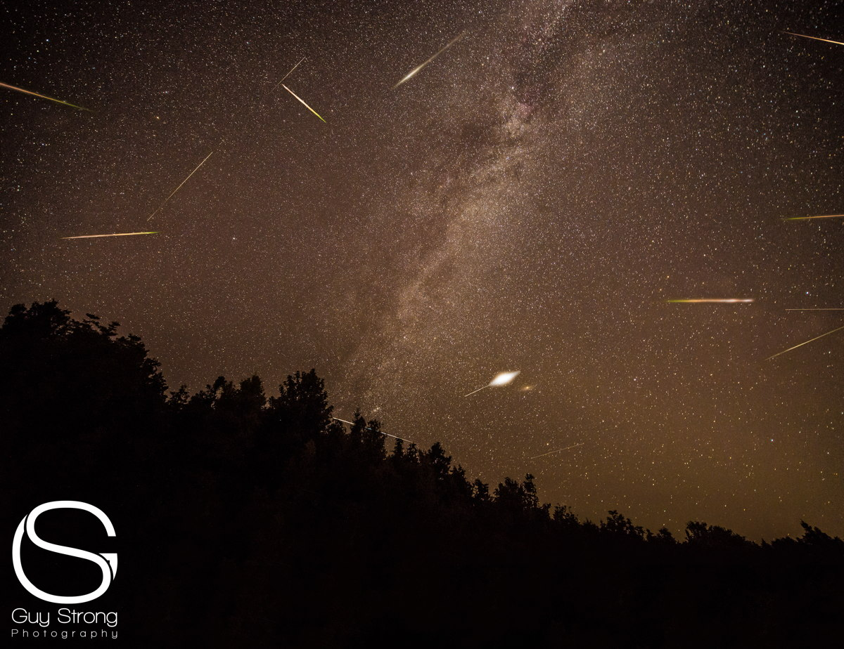 2013 Perseid Meteors Over Lime Lake, MI
