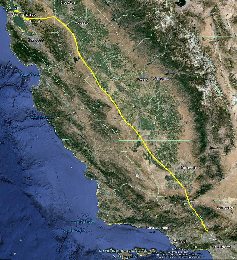 Hyperloop Route Overview