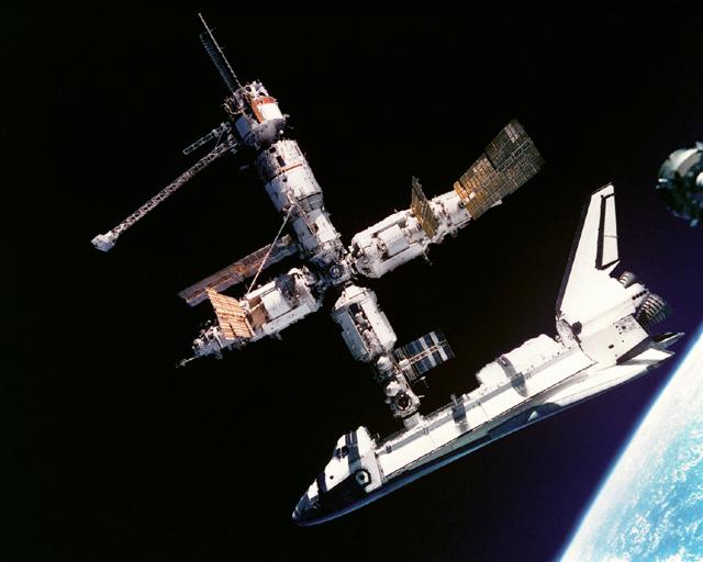 Space History Photo: Atlantis Docked to Mir
