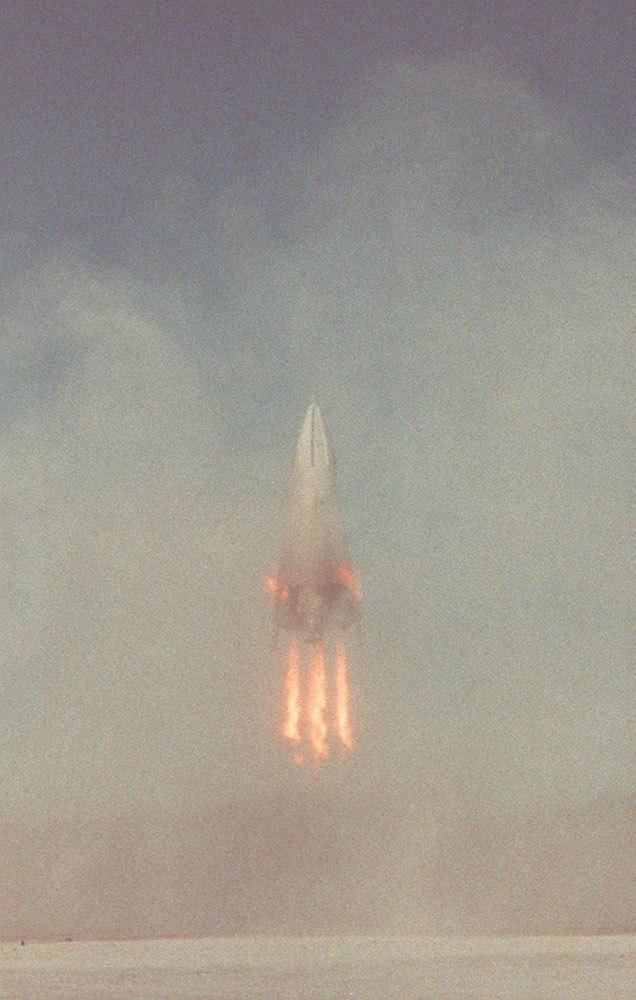 First Test Flight of the Delta Clipper-Experimental Advanced (DC-XA)
