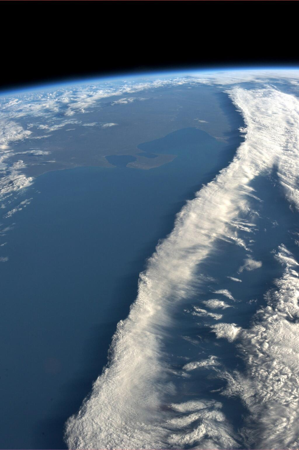 Nyberg: Ribbon of Clouds Over Coast of Argentina