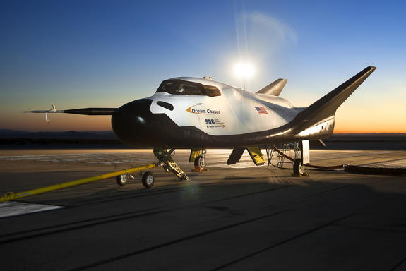 The Sierra Nevada Corporation Dream Chaser flight vehicle is readied for 60 mph tow tests at NASA's Dryden Flight Research Center on Aug. 2, 2013