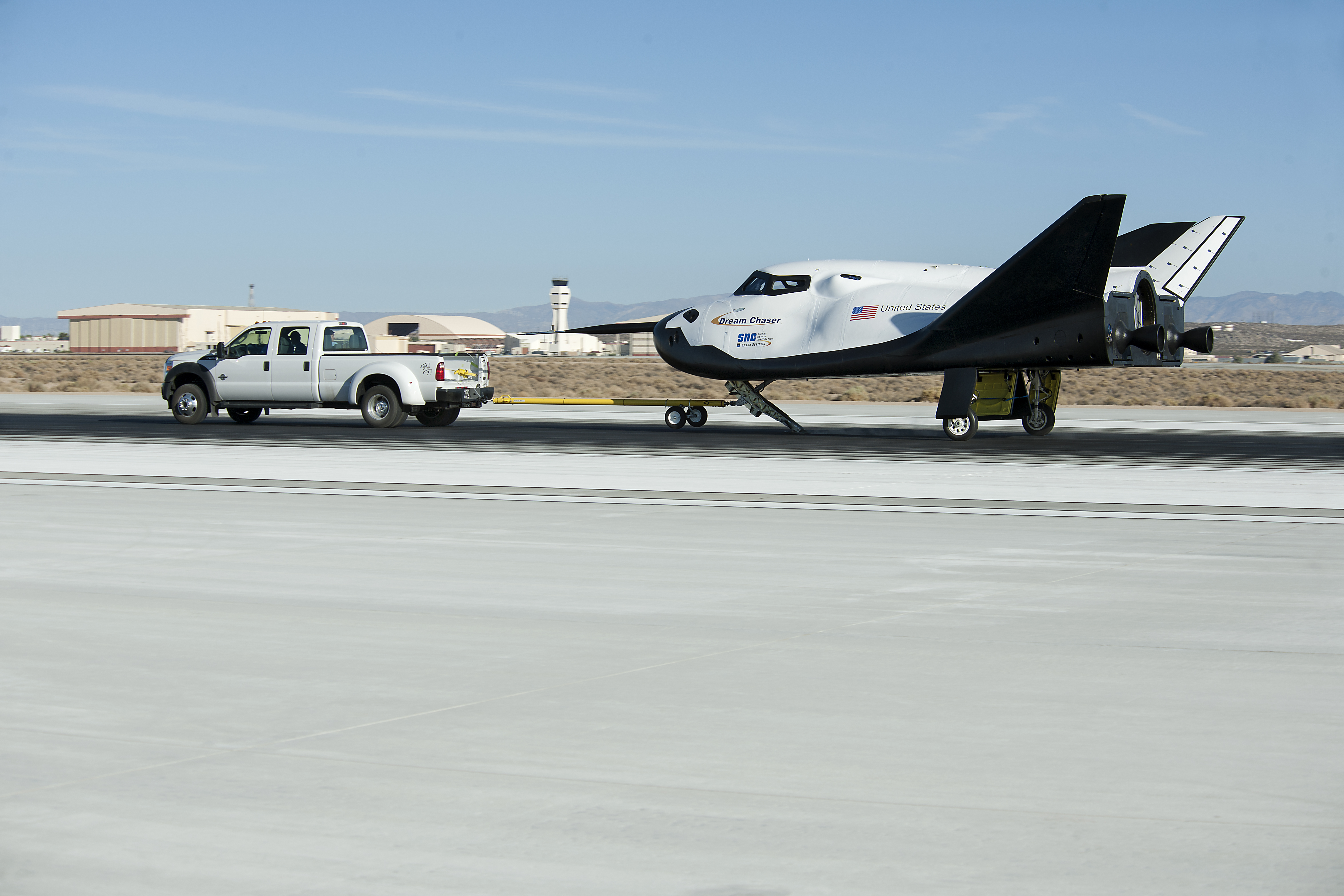 Dream Chaser Pulled in Tow Testing