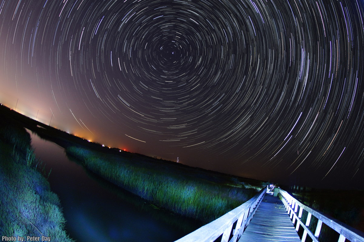 2013 Perseid Meteor, Star Trails and Bridge