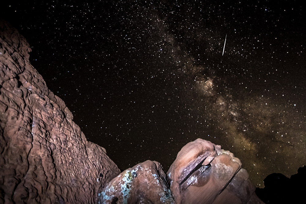 2013 Perseid Meteor Over Lake Mead