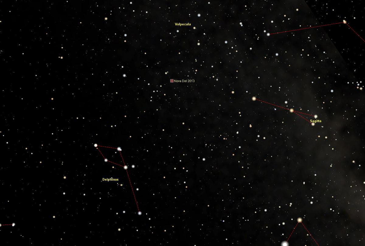Nova Delphini 2013: Deeper Star Chart