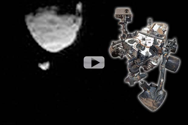 Curiosity Sees Martian Moon's Phobos and Deimos | Time-Lapse Video