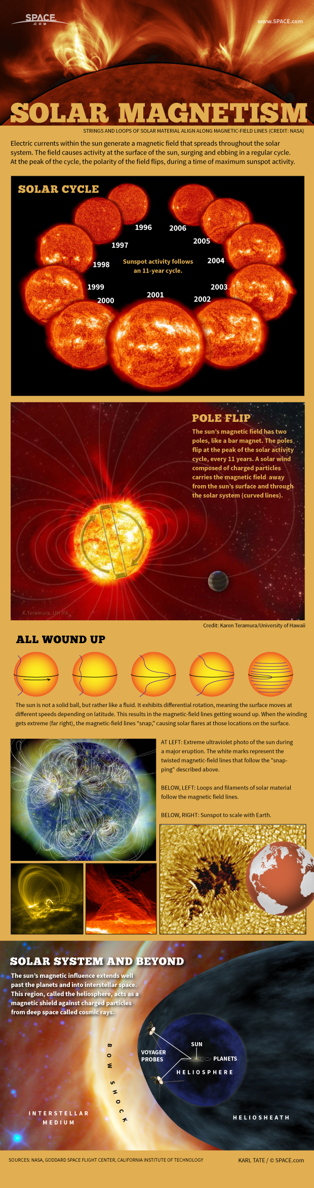 How the Sun's Magnetic Field Works (Infographic)