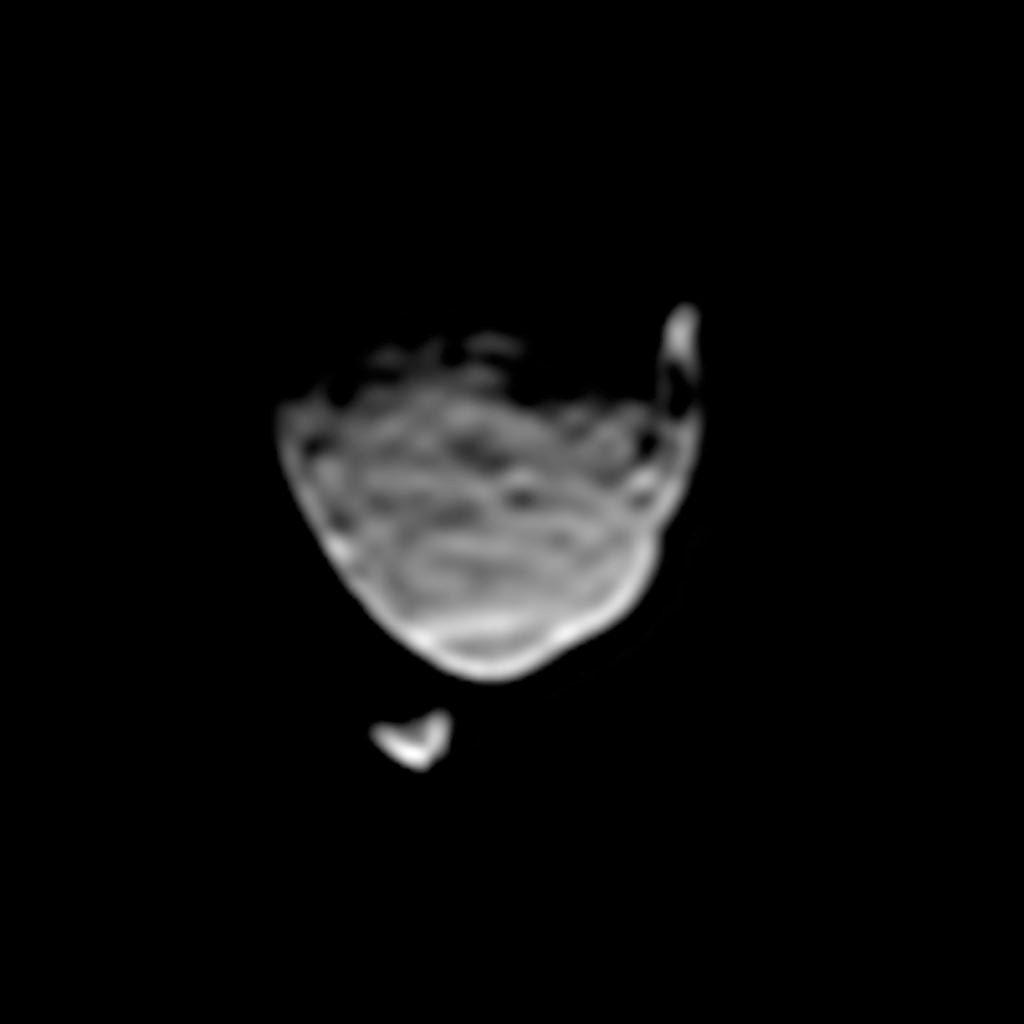 Two Moons of Mars in One Enhanced View