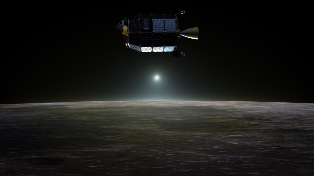 LADEE Above Lunar Sunset Artist's Concept