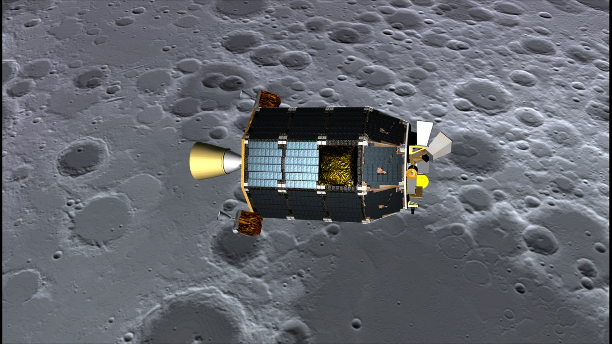 LADEE Above the Lunar Surface Artist's Concept