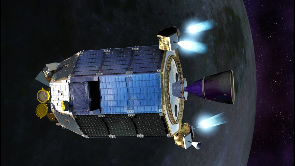 LADEE Fires Thrusters Artist's Concept