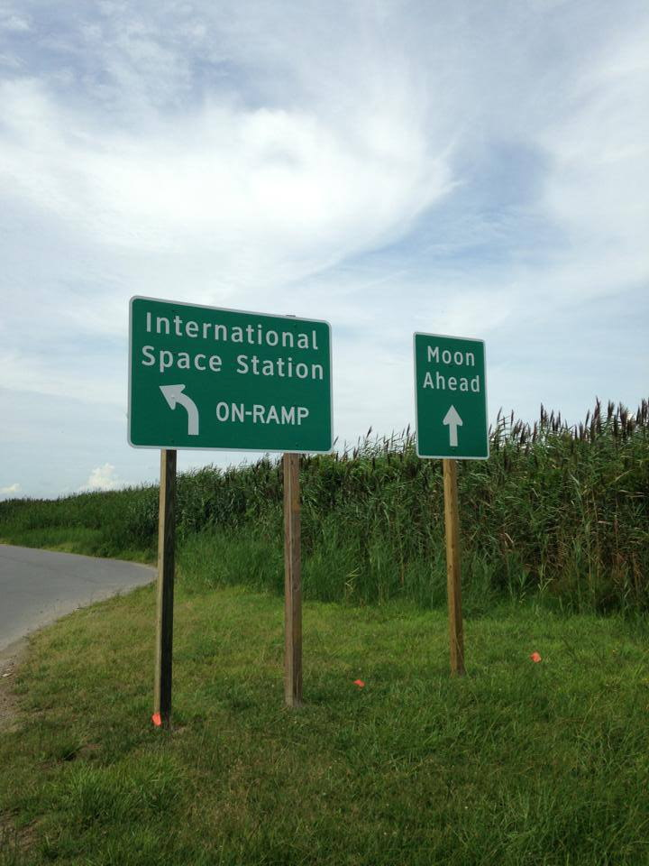 Humorous Road Signs at Wallops Flight Facility