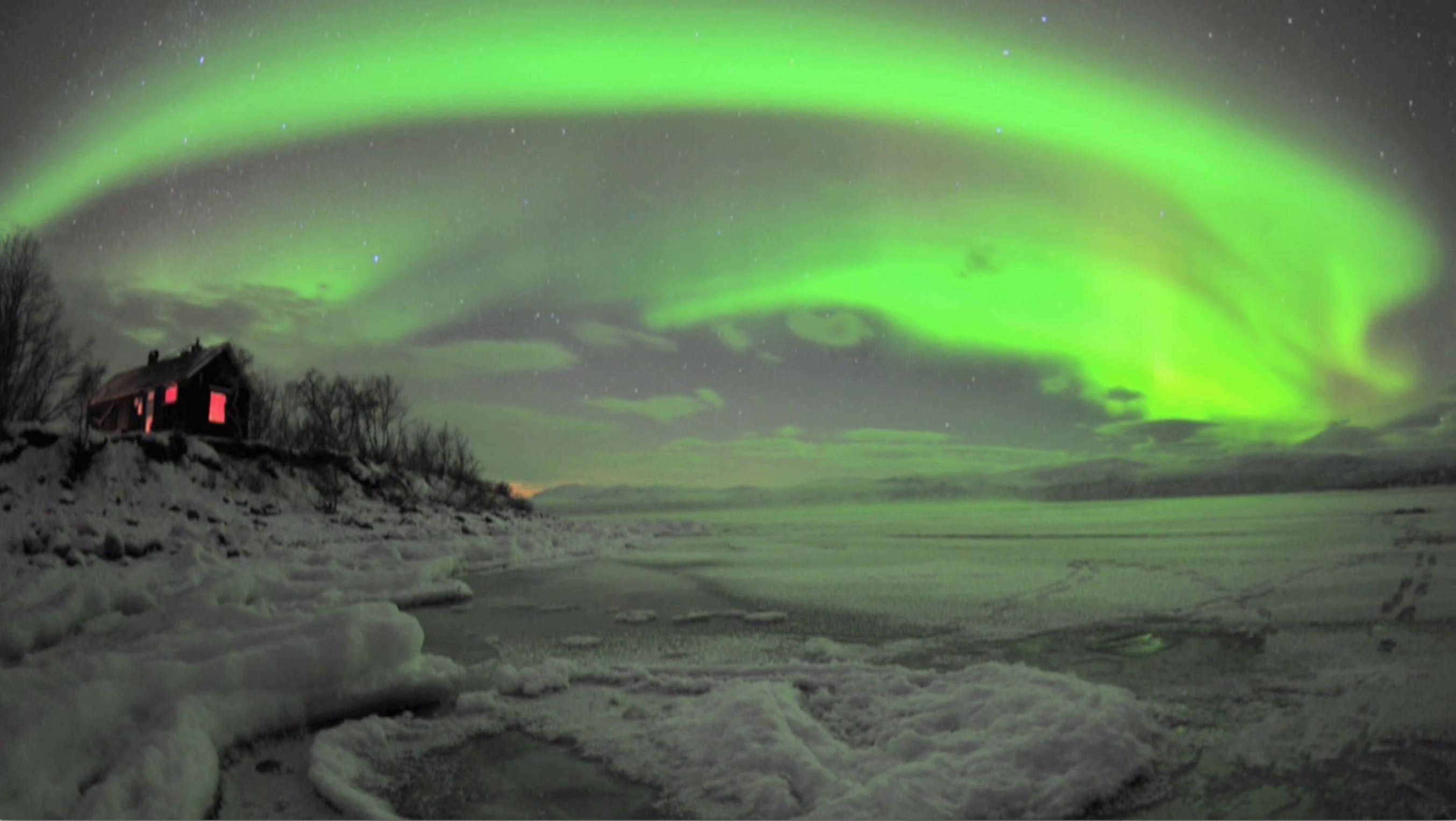 Aurora Over Sweden's Abisko National Park