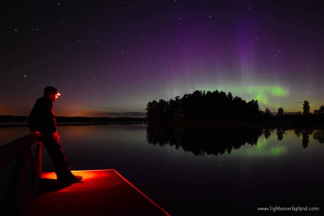 Aurora Over Swedish National Park