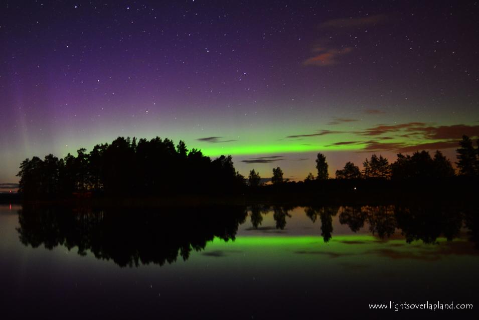 Aurora Over Abisko Park in Sweden