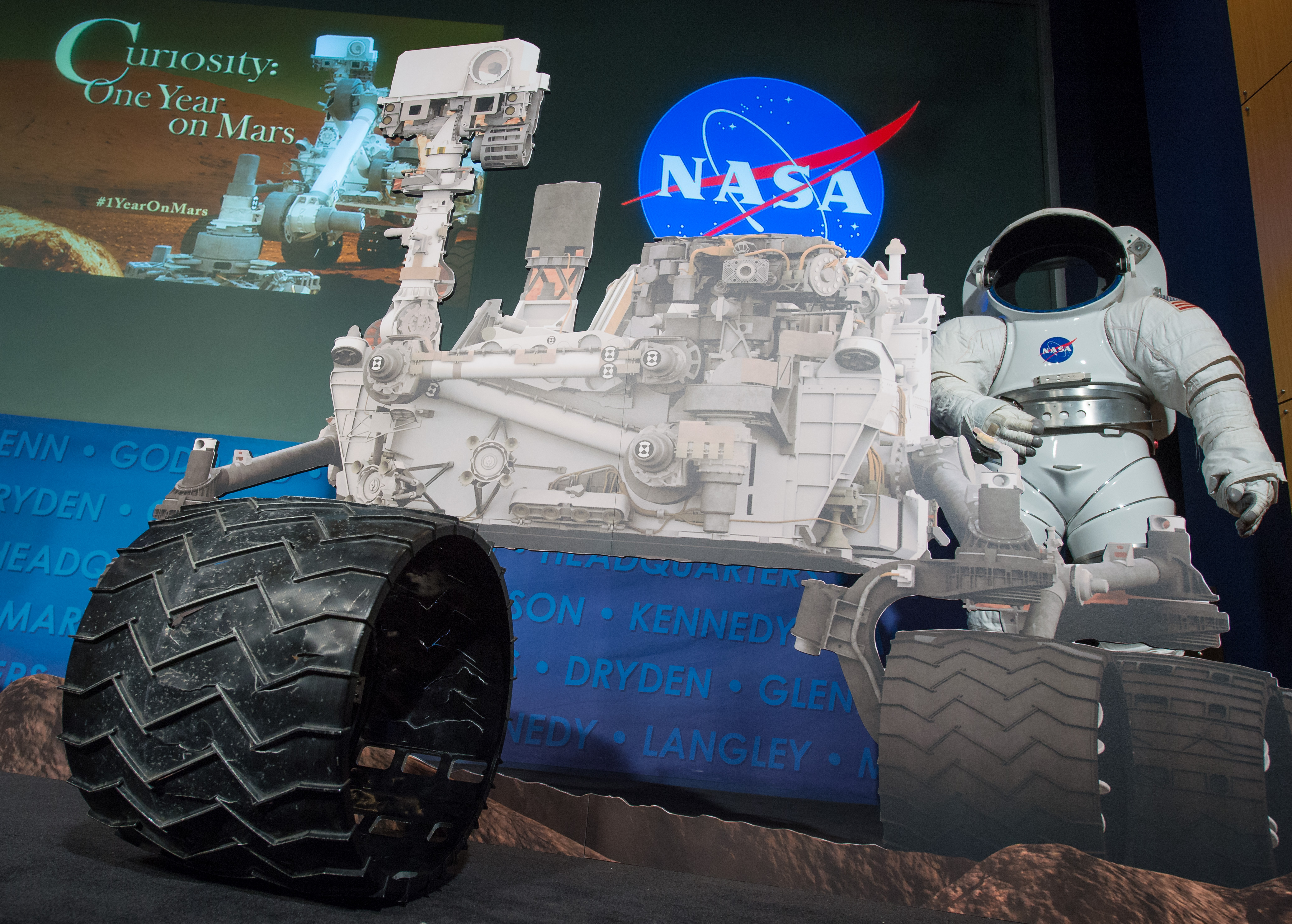 Replica of Curiosity Rover Wheel