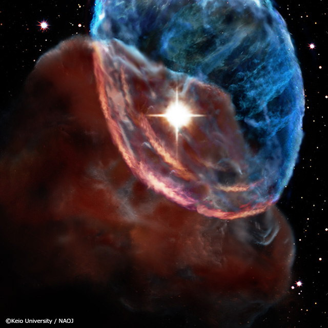 Supernova Shockwave Streaks Through Space at 8 Miles Per Second