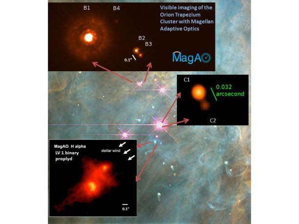 Magellan Telescope Details Orion Nebula