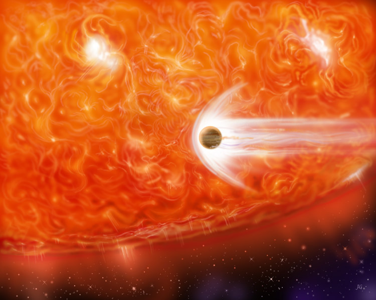 Expanding red giant stars will swallow too-close planets.
