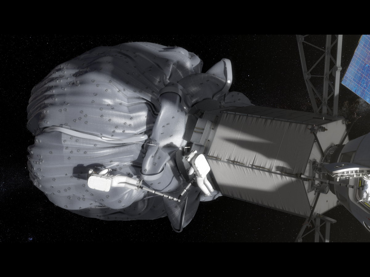 Asteroid Redirect Mission Spacewalk with Translation Boom