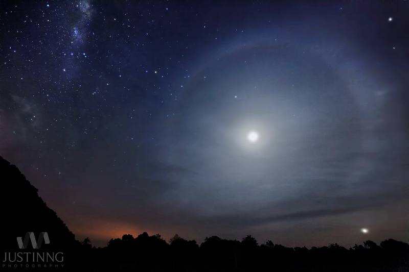 Magnificent Lunar Halo Glows Over Malaysia (Photo)