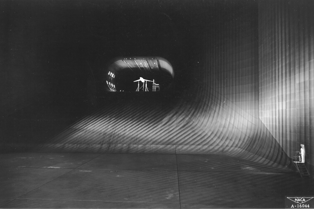Space History Photo: The 80 x 40 Foot Wind Tunnel at Ames
