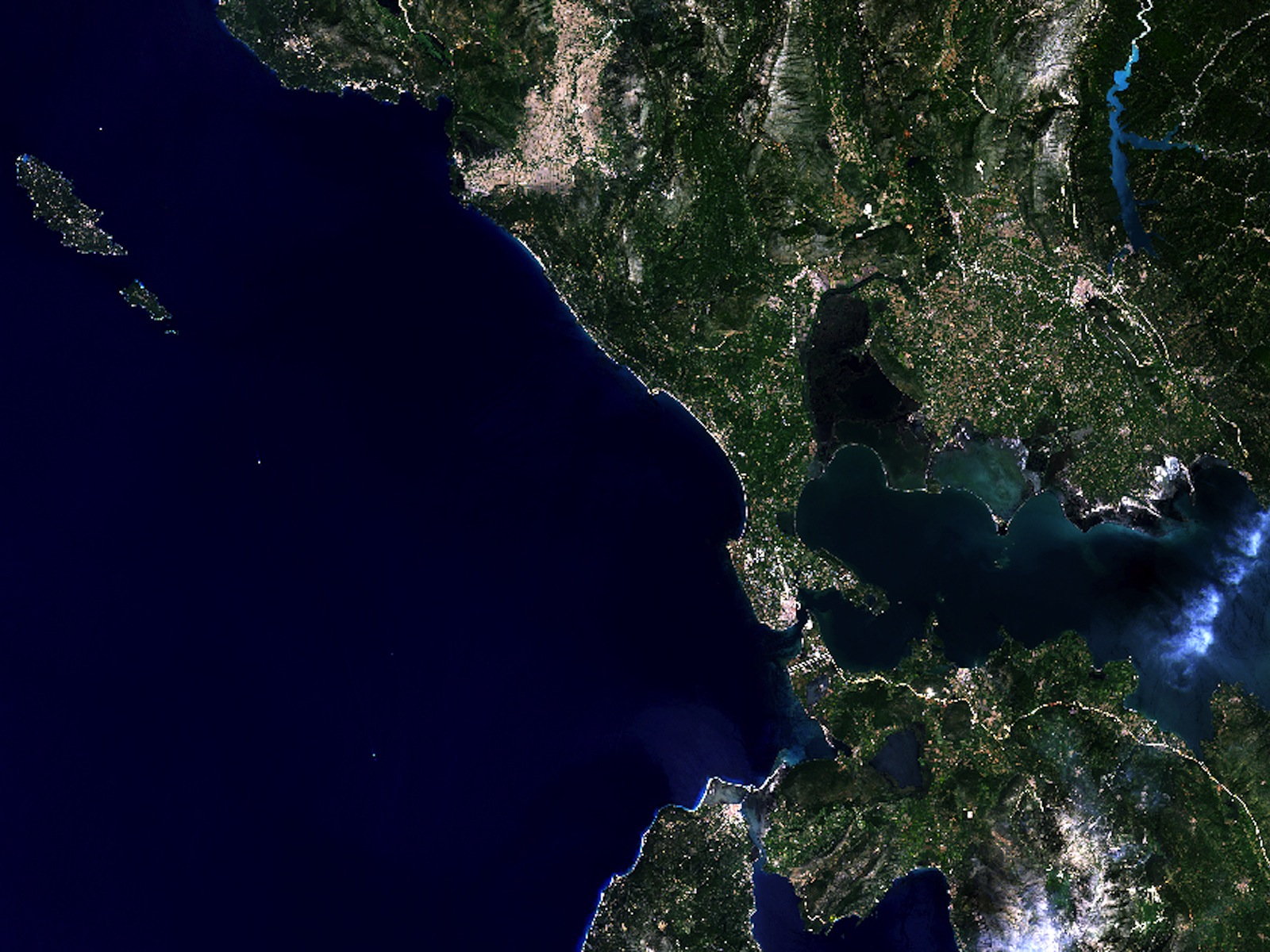 Northwestern Greece from Space space wallpaper