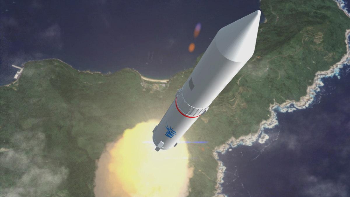 Epsilon Rocket Liftoff Illustration