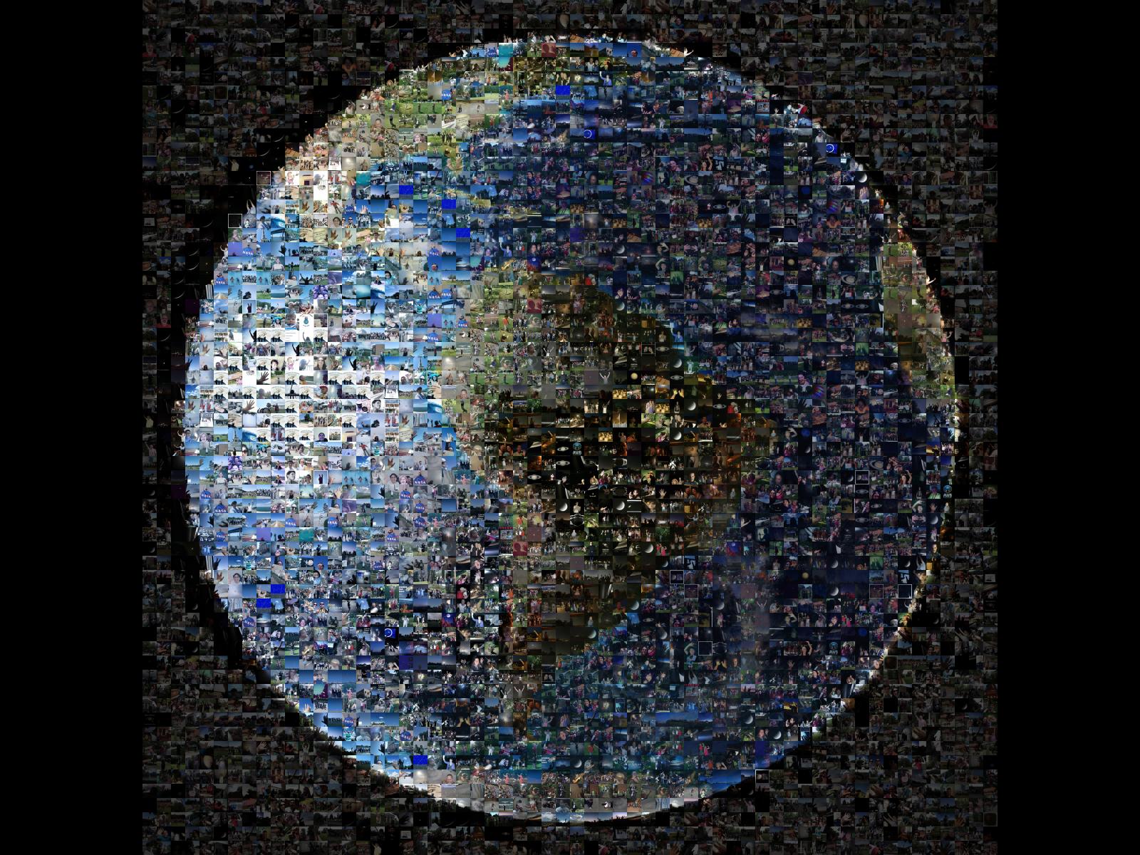 Waving at Saturn | Space Wallpaper