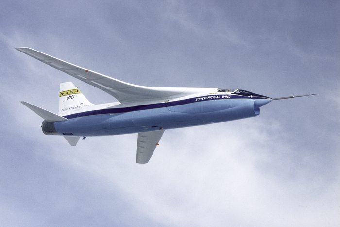 Space History Photo: NASA F-8A Crusader Supercritical Wing Aircraft