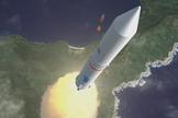 Artist's conception of JAXA's Epsilon rocket during launch.